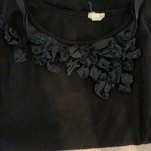 J. Crew Tops - Jcrew tank with detail ruffles size large